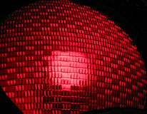 Red stop light. Closeup of red traffic stop light Royalty Free Stock Photography