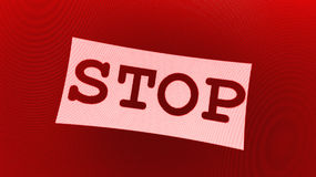 Red stop sign Stock Photos