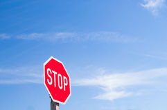 Red Stop Sign Stock Photo