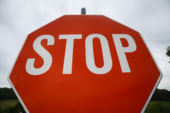 Red stop sign Royalty Free Stock Image