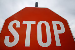 Red stop sign Stock Image