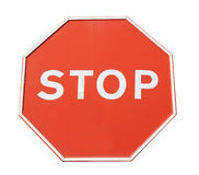 Red stop sign Stock Images