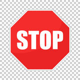 Red stop sign vector icon. Danger symbol vector illustration Royalty Free Stock Photo