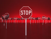 Red Stop Signs Stock Photography