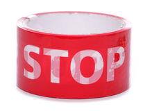 Red stop tape Stock Photos