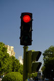 Red stopligth. City stoplight in red Stock Image
