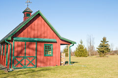 Red storage barn & garage Royalty Free Stock Image