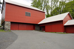 Red storage barns Royalty Free Stock Photos