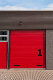 Red storage door Royalty Free Stock Image