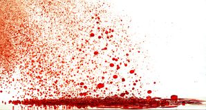 Red storm bubbles. Falling red bubbles on white background Royalty Free Stock Photos