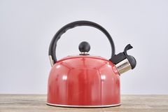 Red Stove Kettle Royalty Free Stock Image