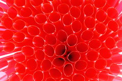 Red straw background Stock Photo