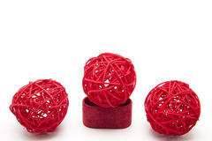 Red straw balls Stock Images