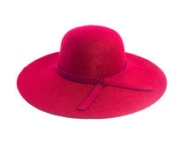 Red straw hat. Isolated on white background Stock Image