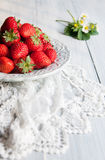 Red strawberries. Some red strawberries in the plate Stock Image
