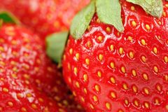 Red Strawberries Close-Up Royalty Free Stock Images