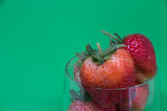 Red strawberries,close-up,depth of field. Royalty Free Stock Photo