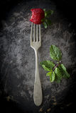 Red strawberries in different positions Stock Photography