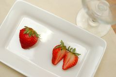 Red strawberries for a healthy lifestyle Stock Image