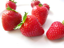 Red strawberries isolated Royalty Free Stock Image