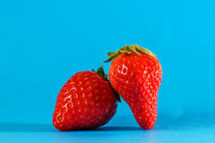 Red strawberries in a macro view. Some red strawberries in a macro view royalty free stock image