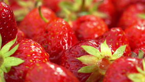 Red Strawberries Rotate. stock video footage