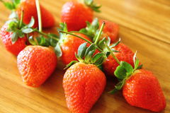 Red strawberries on the table  (IV) Royalty Free Stock Image