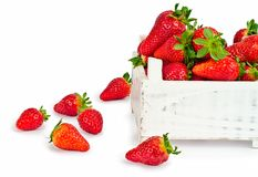 Red strawberries on white Stock Photo