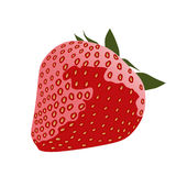 Red strawberry. Isolated on a white Stock Photography