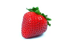 A red strawberry. On a white background Stock Images