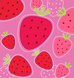Red strawberry background texture. Stylized texture of red strawberry isolated on black background Royalty Free Stock Photo