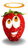 Red strawberry with bless emotion Royalty Free Stock Photos