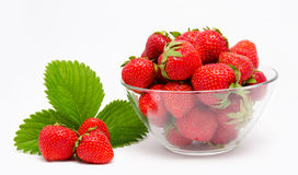 Red strawberry in the bowl  Stock Image