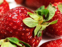 Red strawberry close-up Royalty Free Stock Photography