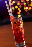 Red strawberry cocktail Stock Image