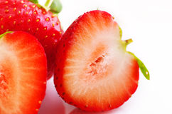 Red strawberry fruit Stock Images