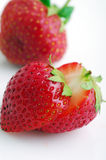 Red strawberry fruit Royalty Free Stock Images