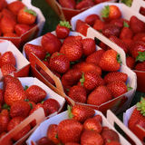 Red strawberry fruit for sale Royalty Free Stock Photos