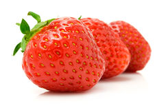 Free Red Strawberry Fruits Isolated On White Royalty Free Stock Images - 9825819