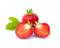 Red strawberry isolated Royalty Free Stock Photos