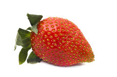 A red strawberry, isolated on a white Stock Photo