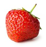 Red strawberry isolated on a white Stock Photography