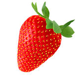 Red strawberry isolated on white background. Isolated strawberry on white background as package design element stock photos
