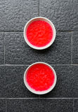 Red strawberry jelly Royalty Free Stock Image