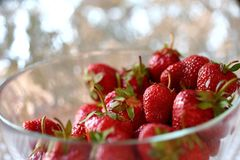 The red strawberry is a juicy and the most sumptuous fruit with a lot of vitamins. A ripe red strawberry is a pretty acidic flavor that can enslave many gourmet Stock Images