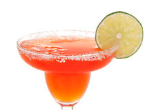 Red strawberry margarita cocktail Stock Image