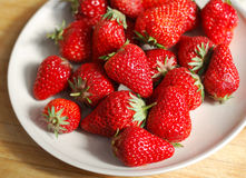 Strawberry  in plate Stock Photography