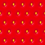 Red strawberry seamless texture pattern with seed Royalty Free Stock Images