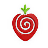 Red strawberry symbol Royalty Free Stock Photos