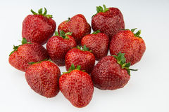 Red strawberry. The red strawberry, very fragrant fruit, color is also very beautiful, taste more attractive Royalty Free Stock Photos